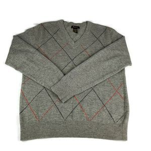 Urban Outfitters Fink Sweater Argyle Lambs Wool
